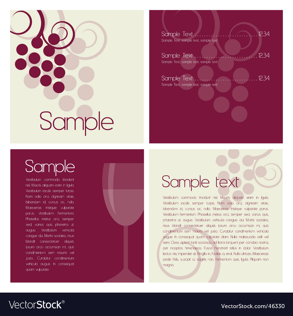Wine brochure vector image