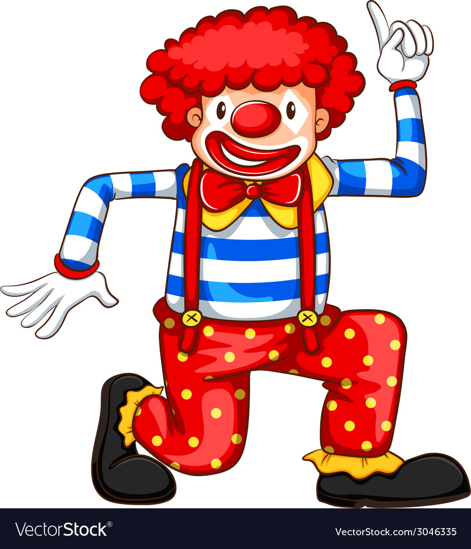 A Simple Coloured Sketch Of A Clown Royalty Free Vector