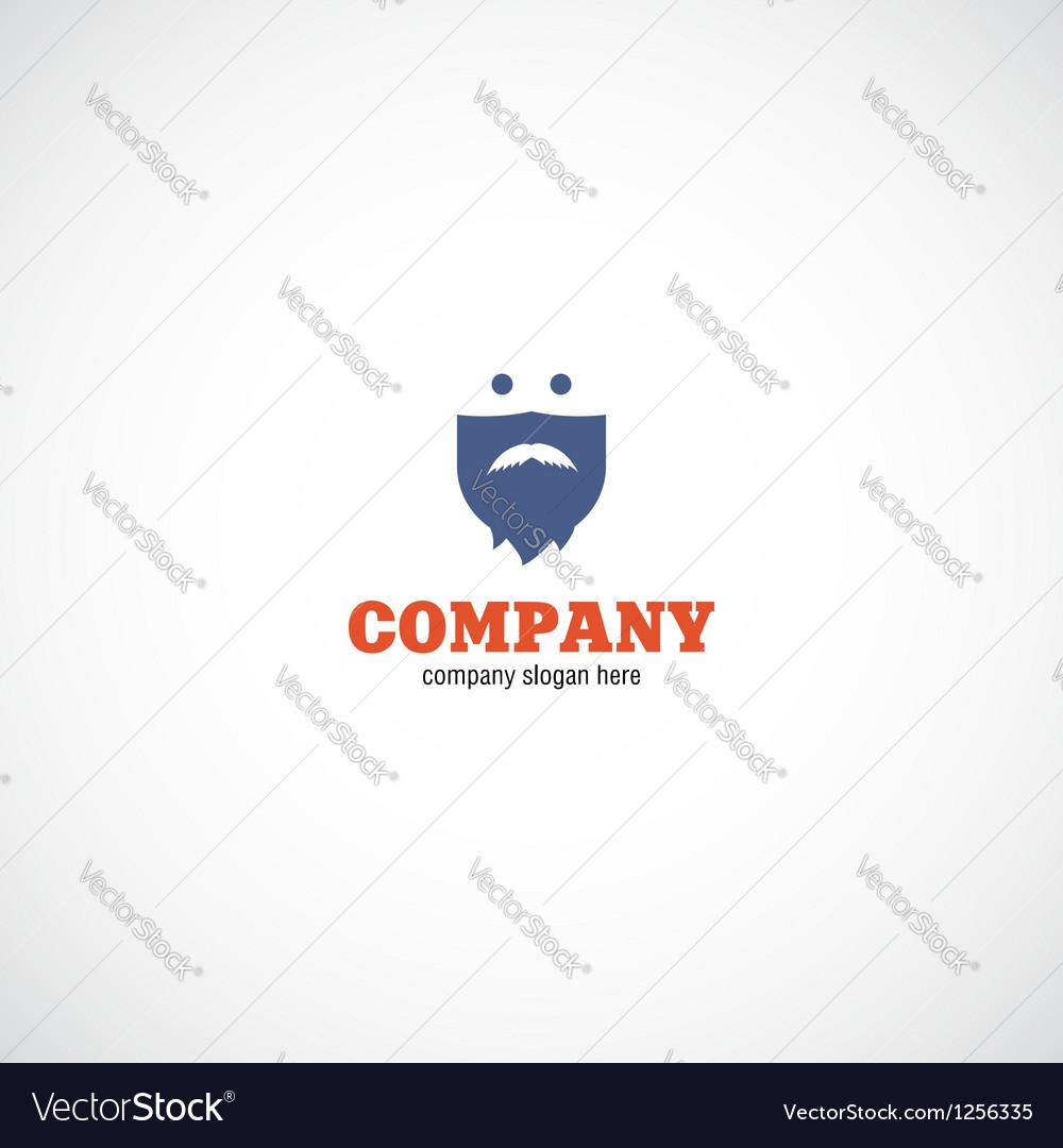 Beard man company logo