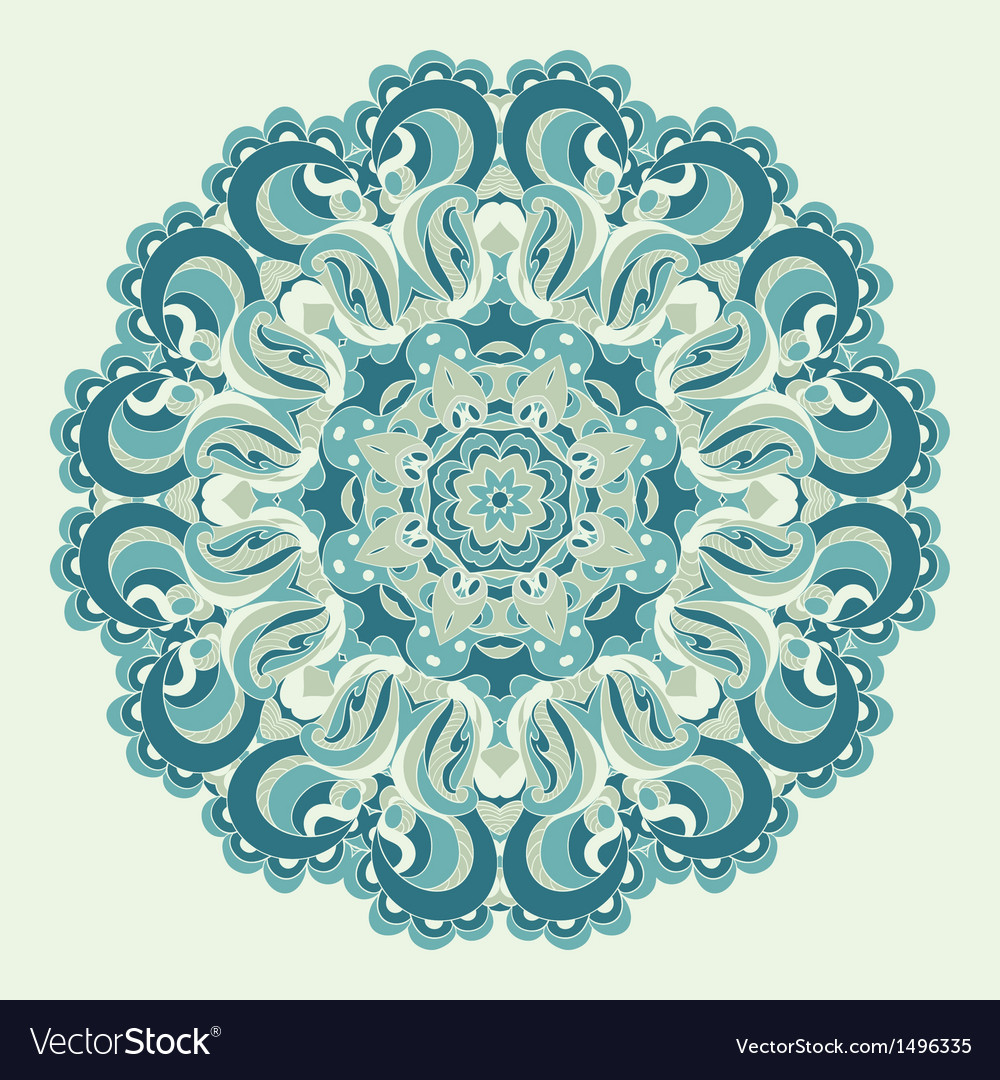 Beautiful blue ornament background
