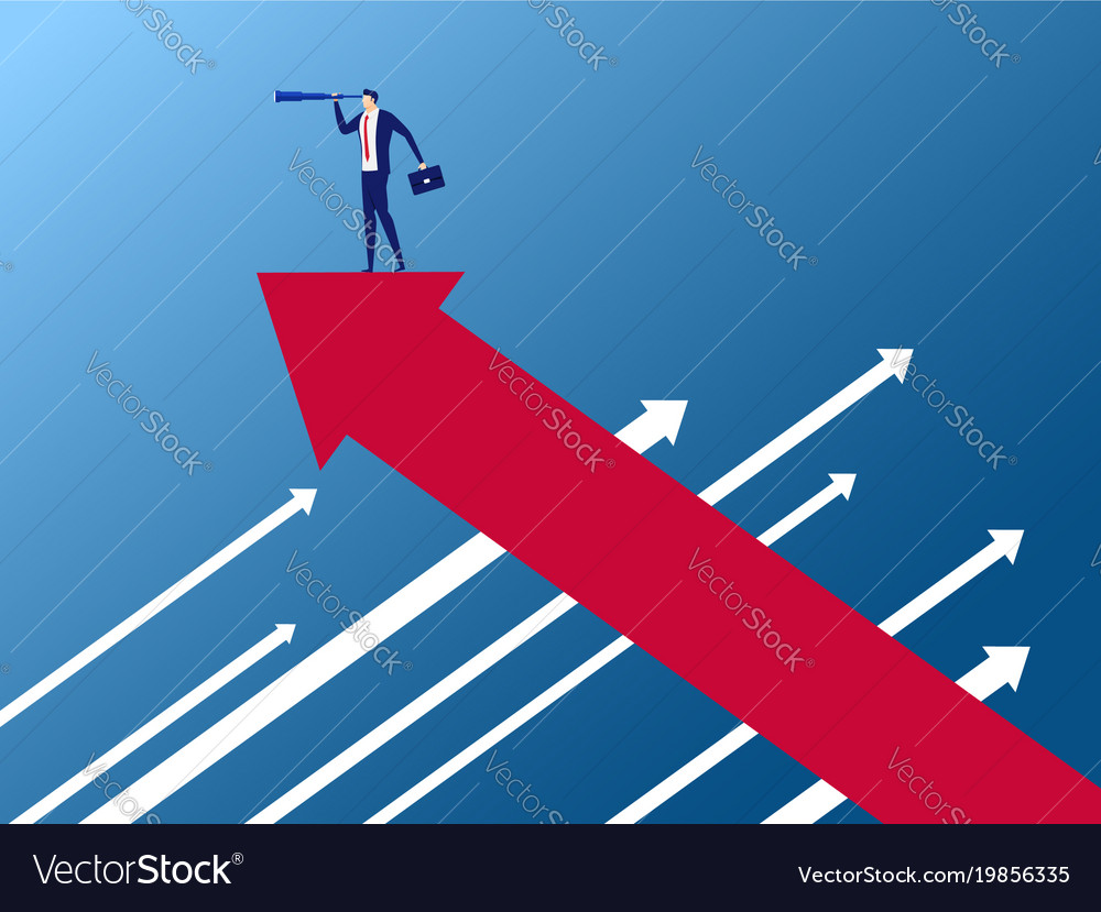 Businessman Stand On Arrow Growth Graph Royalty Free Vector Waiting for the requiem stands :) license: businessman stand on arrow growth graph royalty free vector