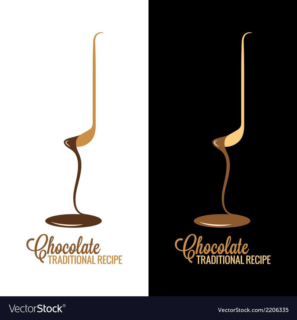 Chocolate wrapper design menu background
