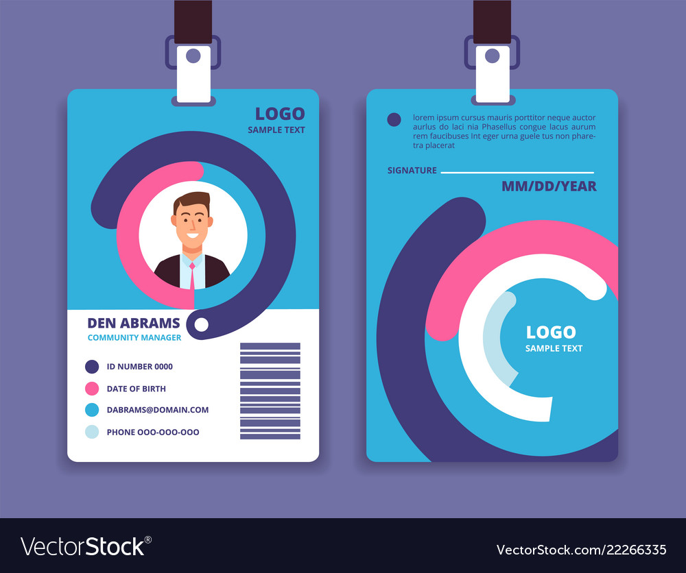 Employee Id Corporate Image Identity Vector Professional Card