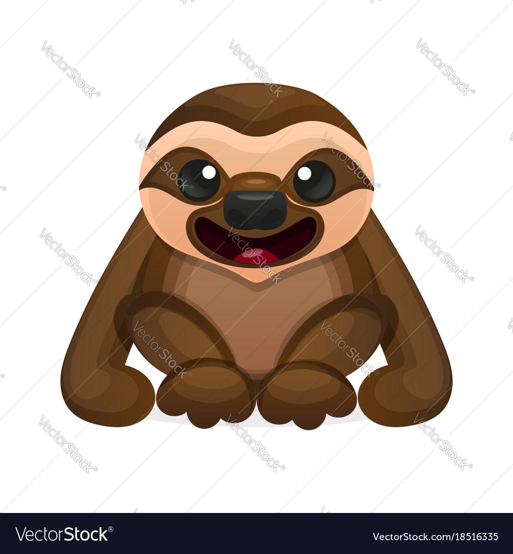 Happy cute sloth vector image