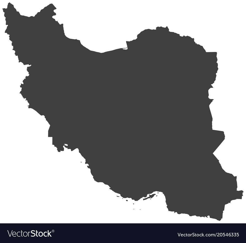 Map of iran Royalty Free Vector Image - VectorStock