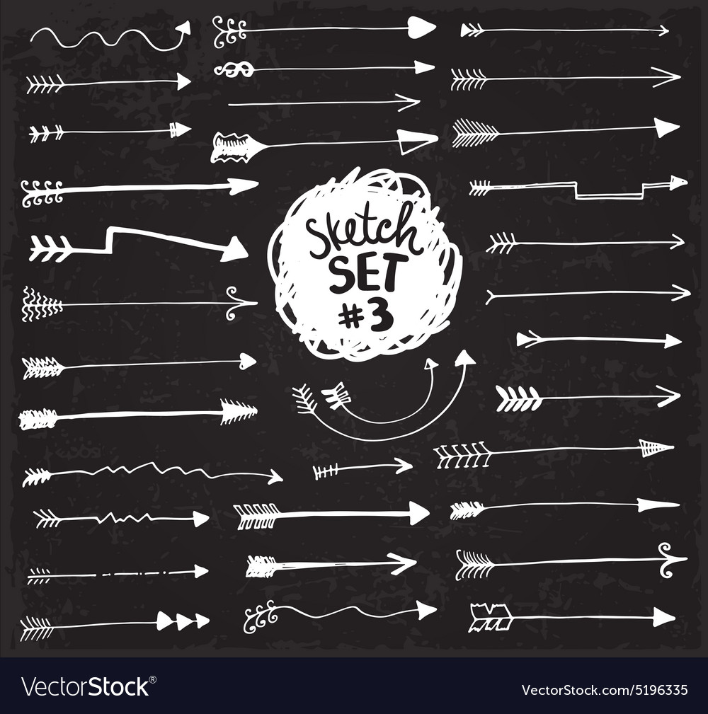 Sketch arrows set