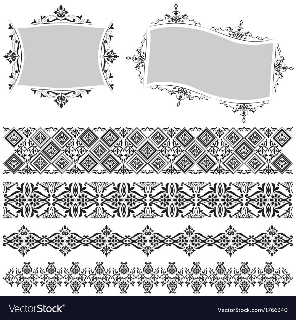 Elegant border and frame vectorimage
