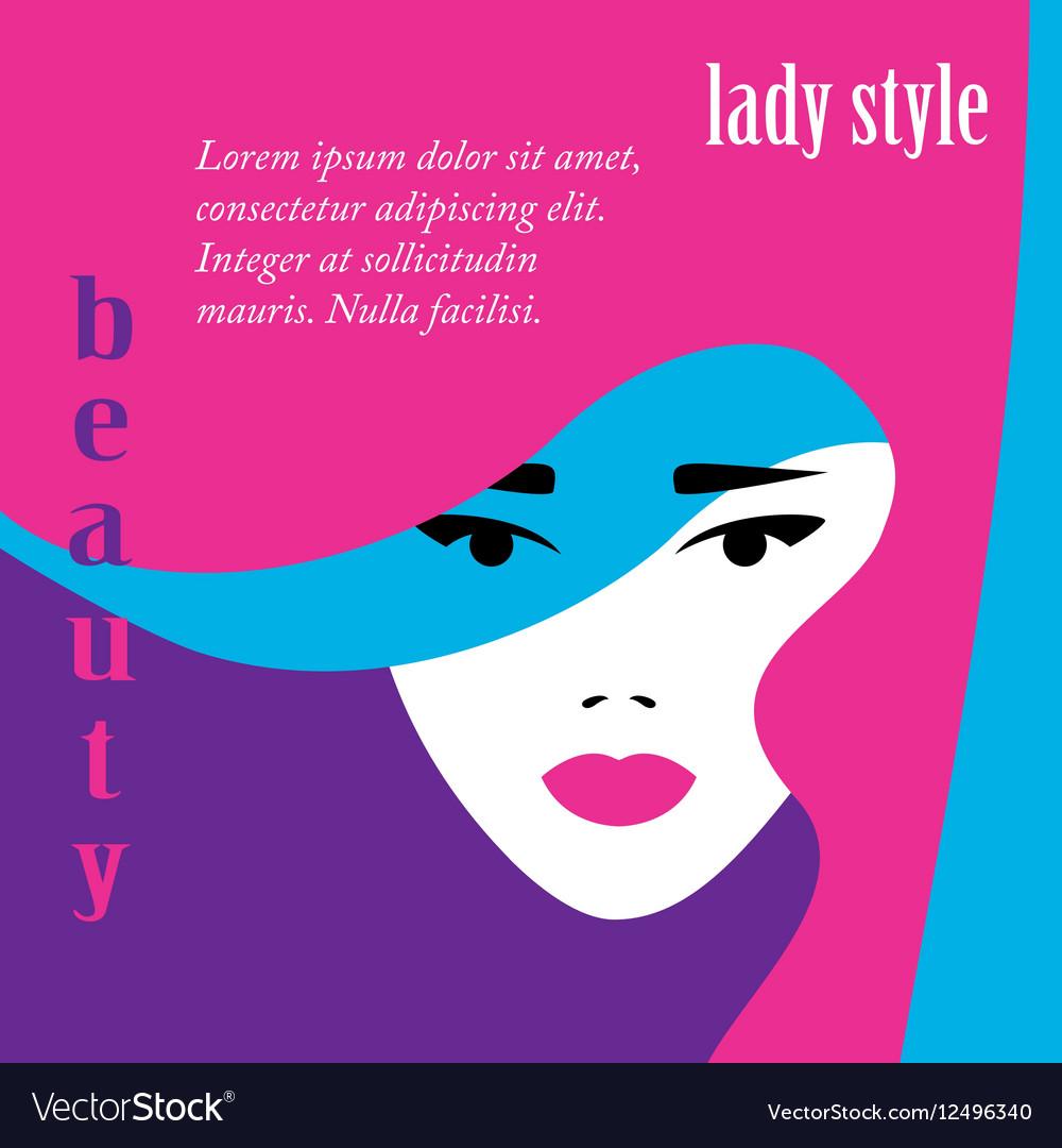Fashion lady retro style