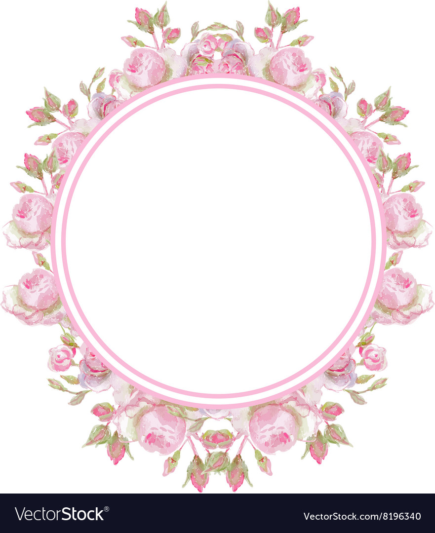 Floral vintage frame Wedding rings Royalty Free Vector Image