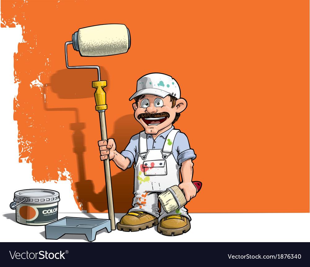 Handyman Wall Painter White Uniform