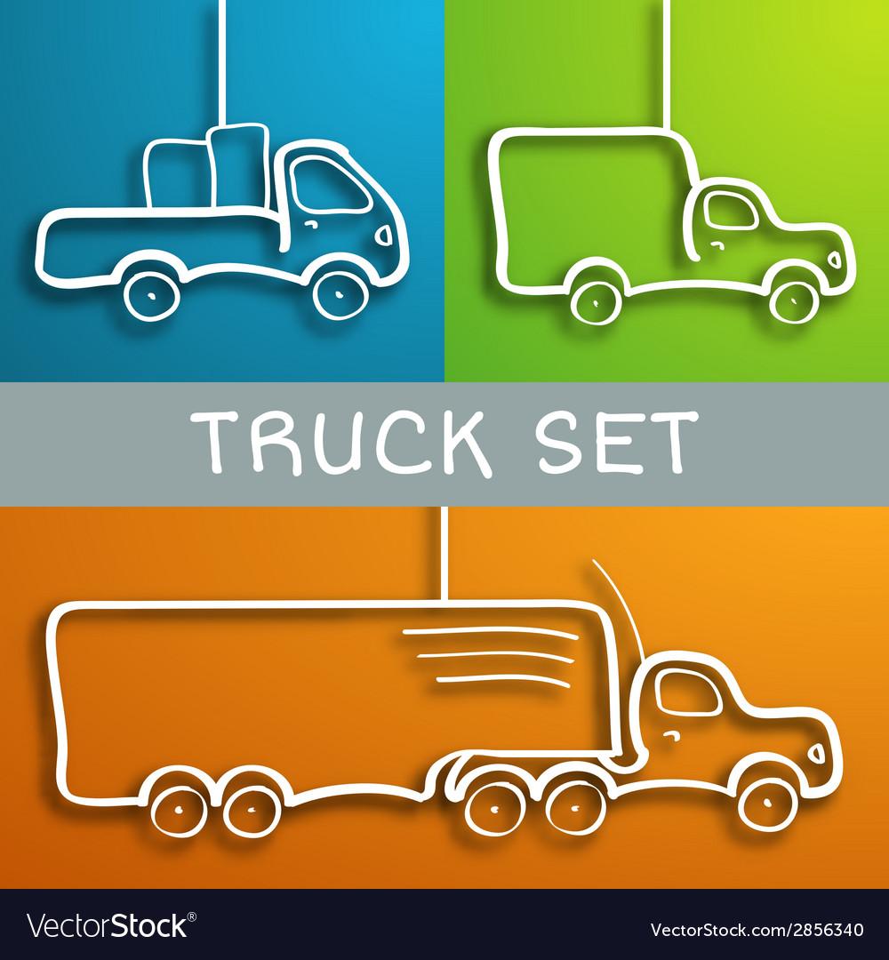 Paper truck set