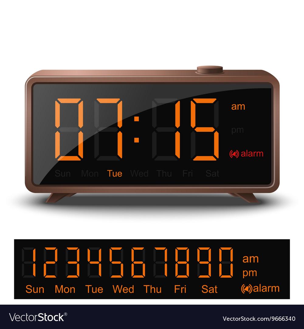 Designer Digital Alarm Clock Digital Photos And