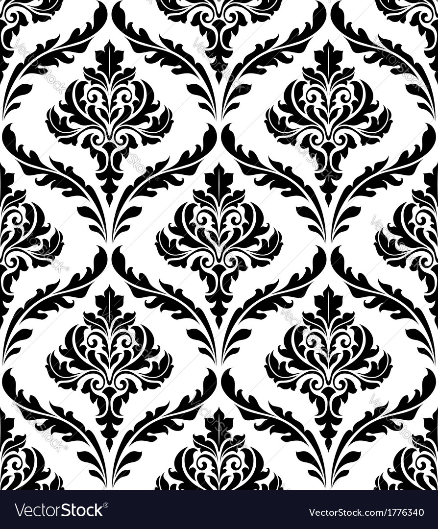 seamless damask pattern royalty free vector image