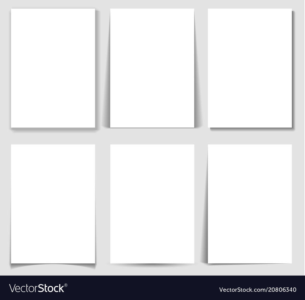 Set of paper effect with transparent realistic