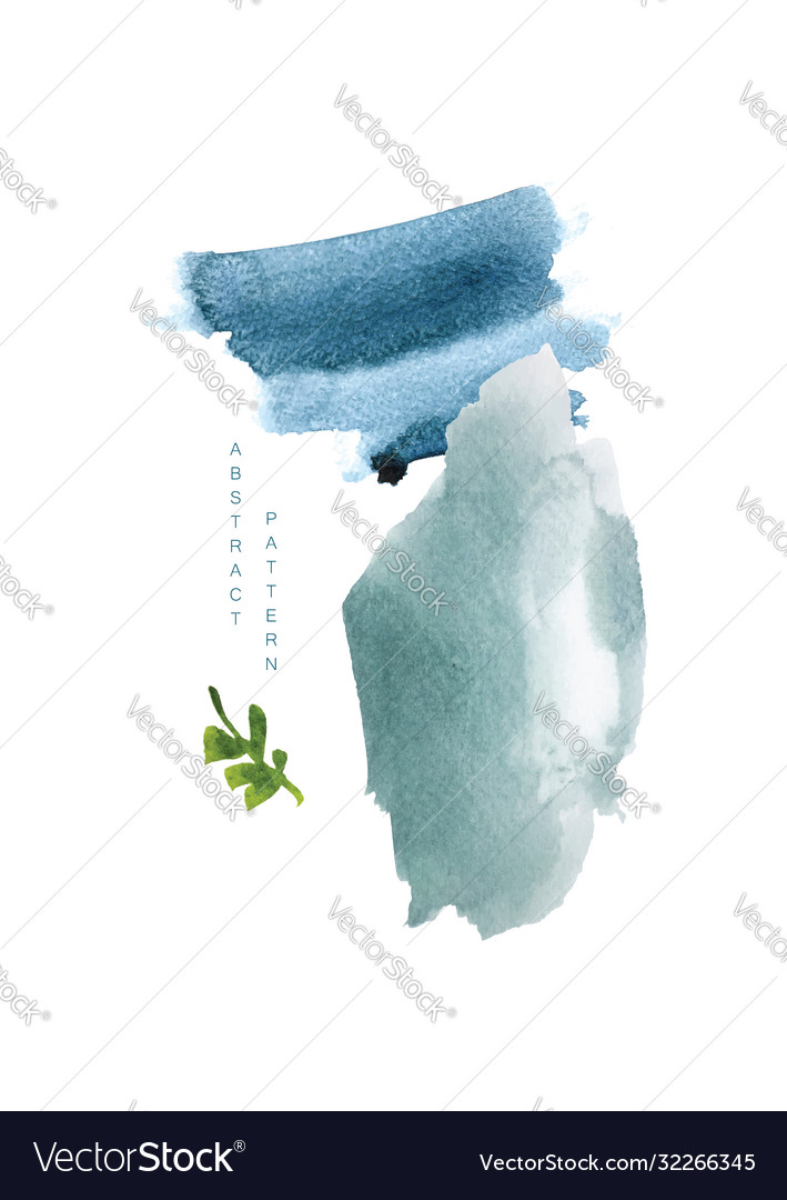 Abstract art with watercolor texture background
