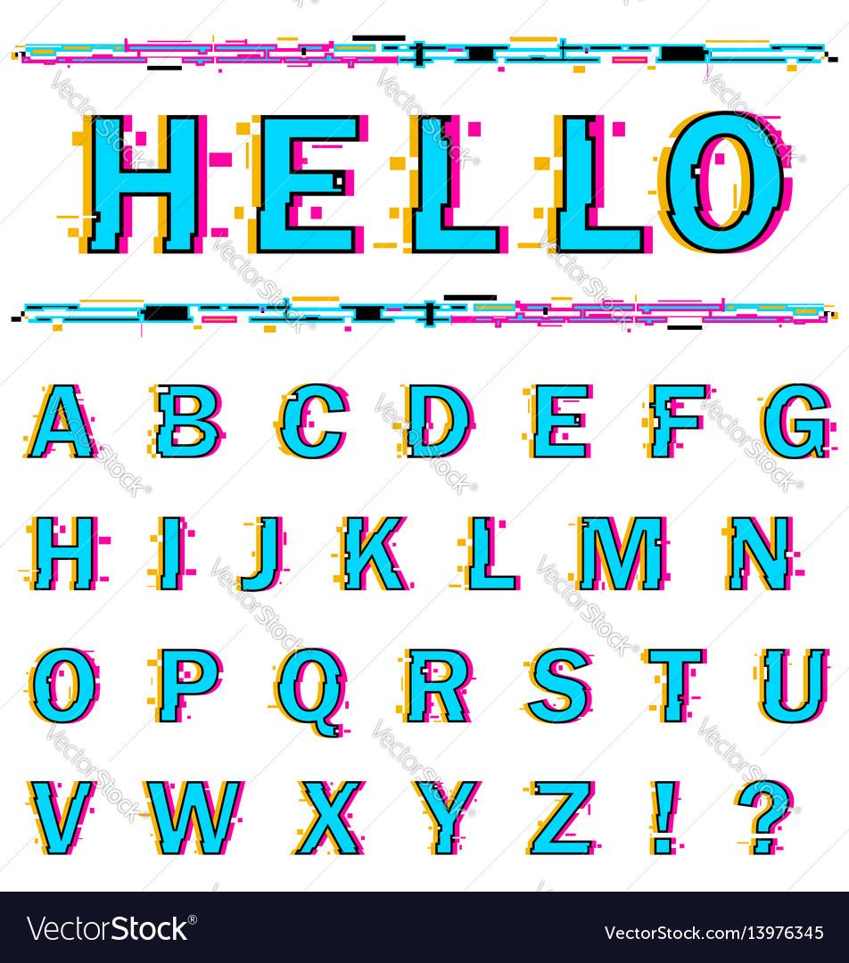 Alphabet on white background