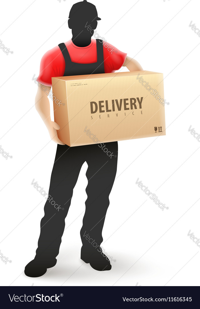 Delivery service man postman