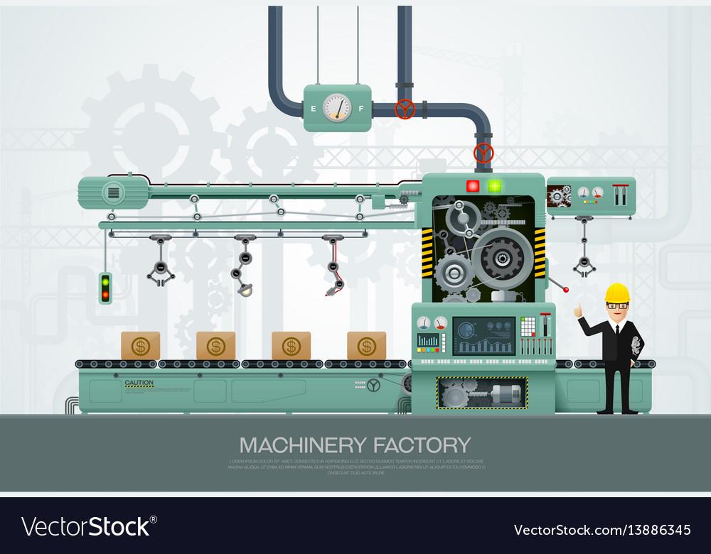 Industrial machine factory construction equipment Vector Image