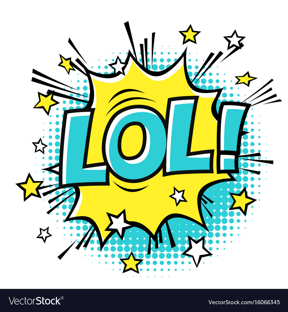 Lol phrase in speech bubble comic text bubble vector image