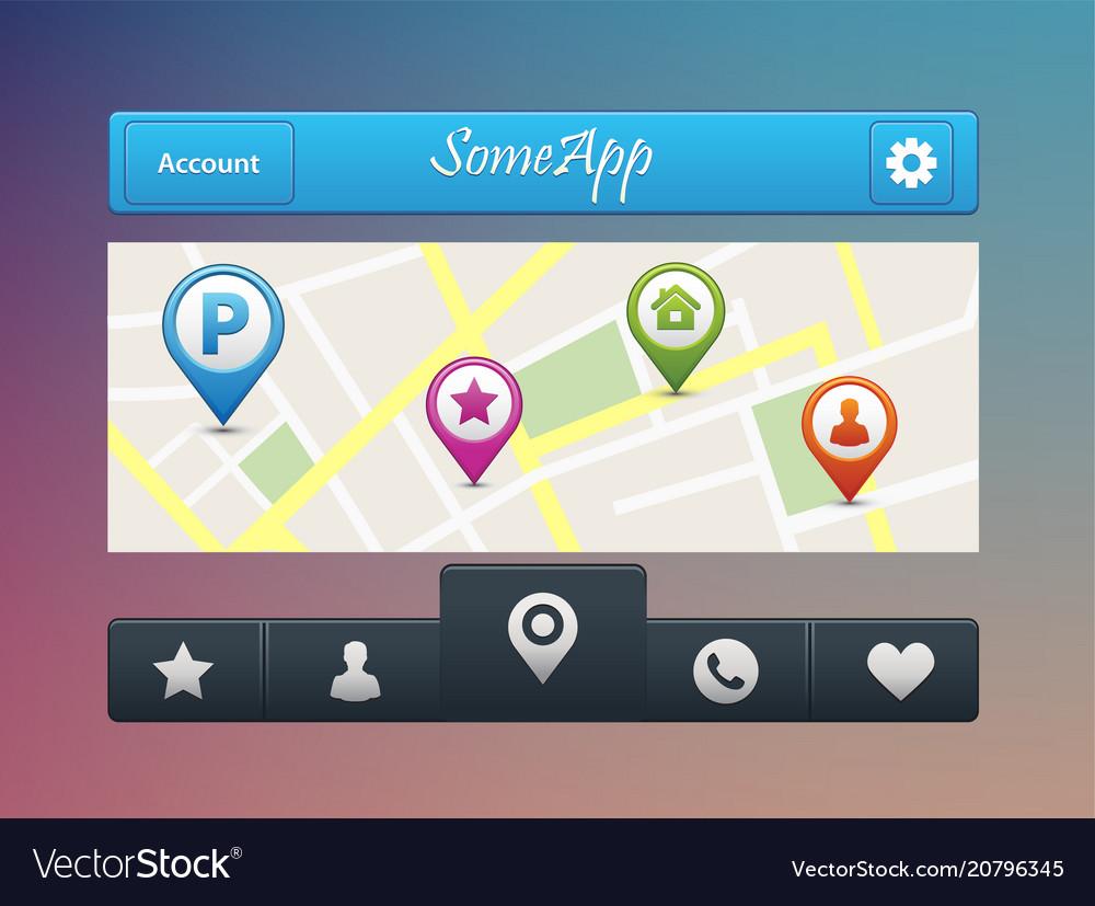 Mobile navigation app on