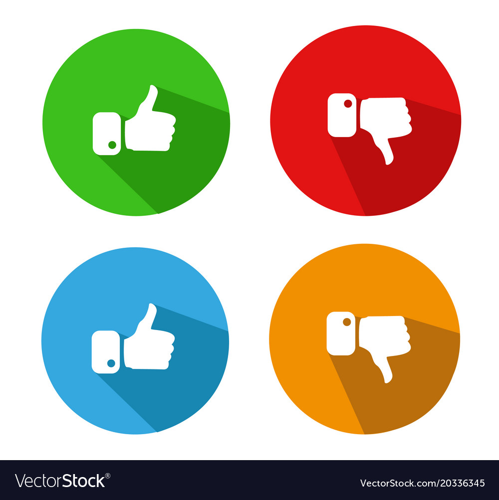 modern thumbs up and thumbs down icons royalty free vector