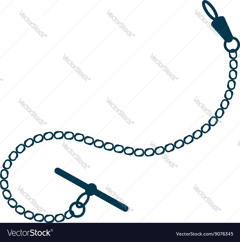 Pocket watch chain Royalty Free Vector Image - VectorStock f40012363a7f