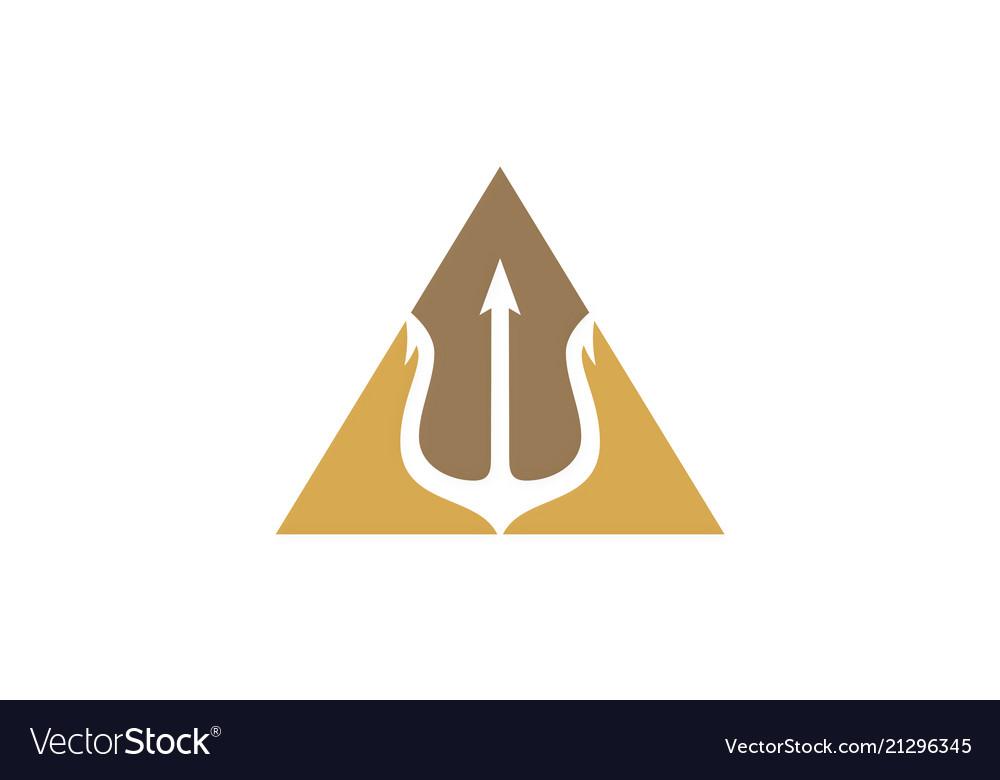 Trident weapon icon logo