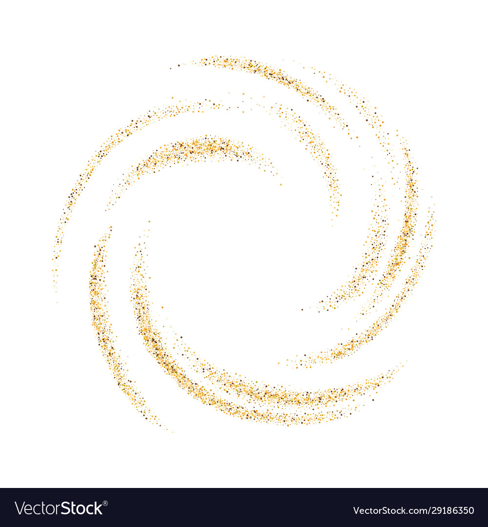 Abstract background with gold luminous swirling