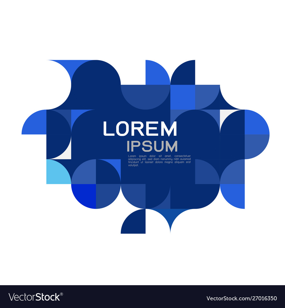 Abstract trendy geometric template with blue