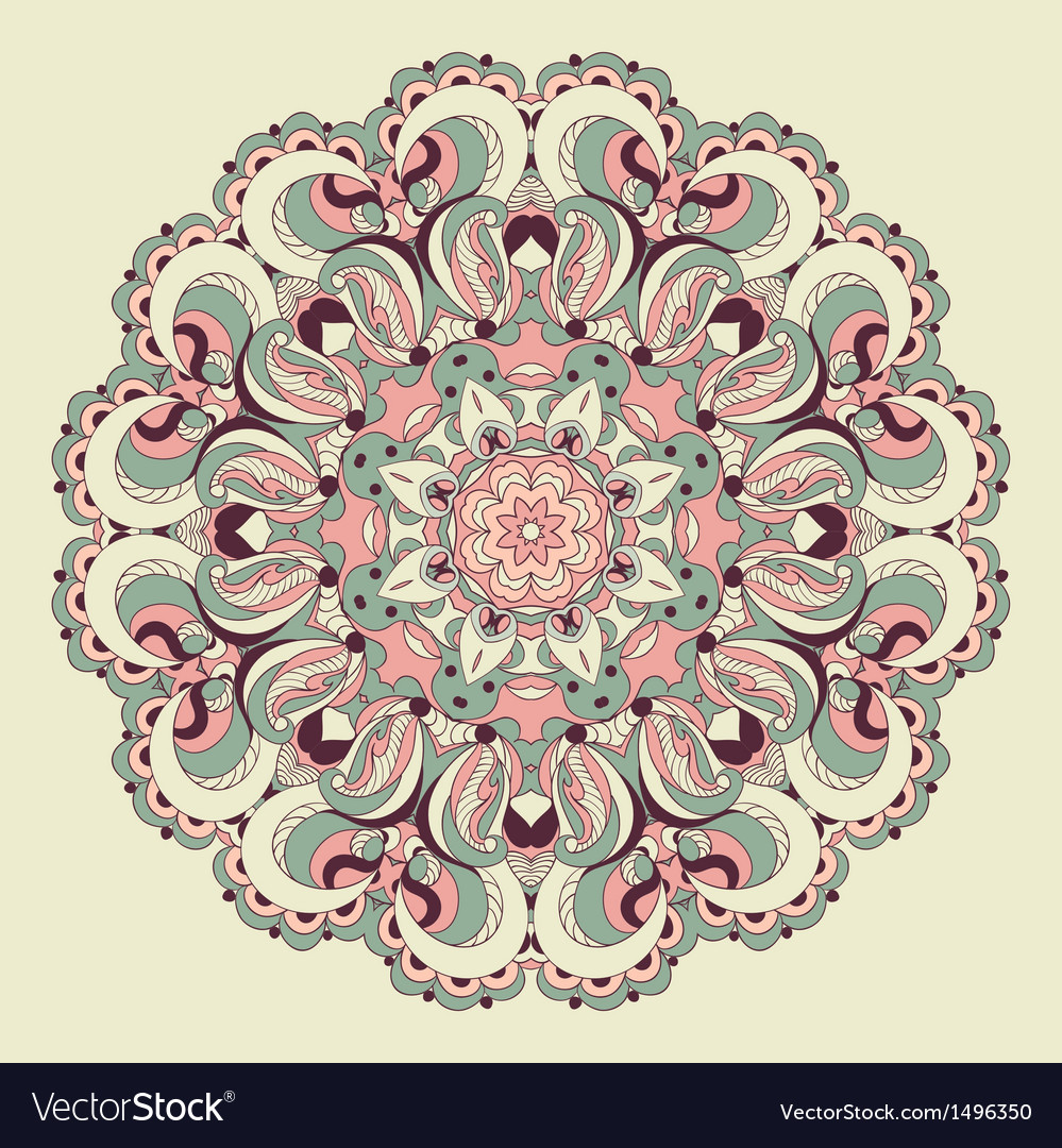 Beautiful arabesque lace pattern background vector image