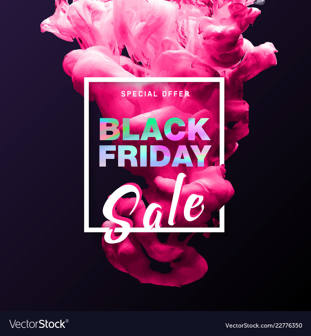 Black friday banner shopping discount promotion