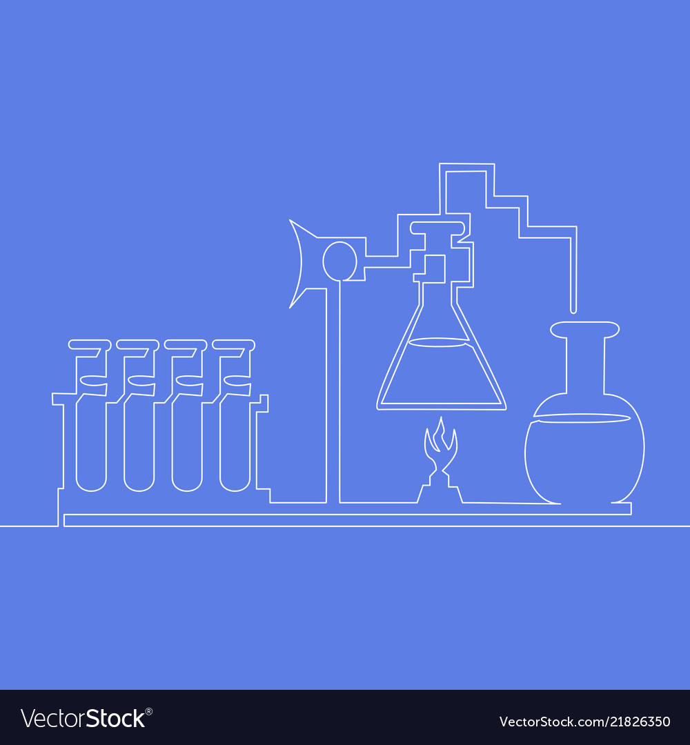 Continuous one line chemical lab retorts