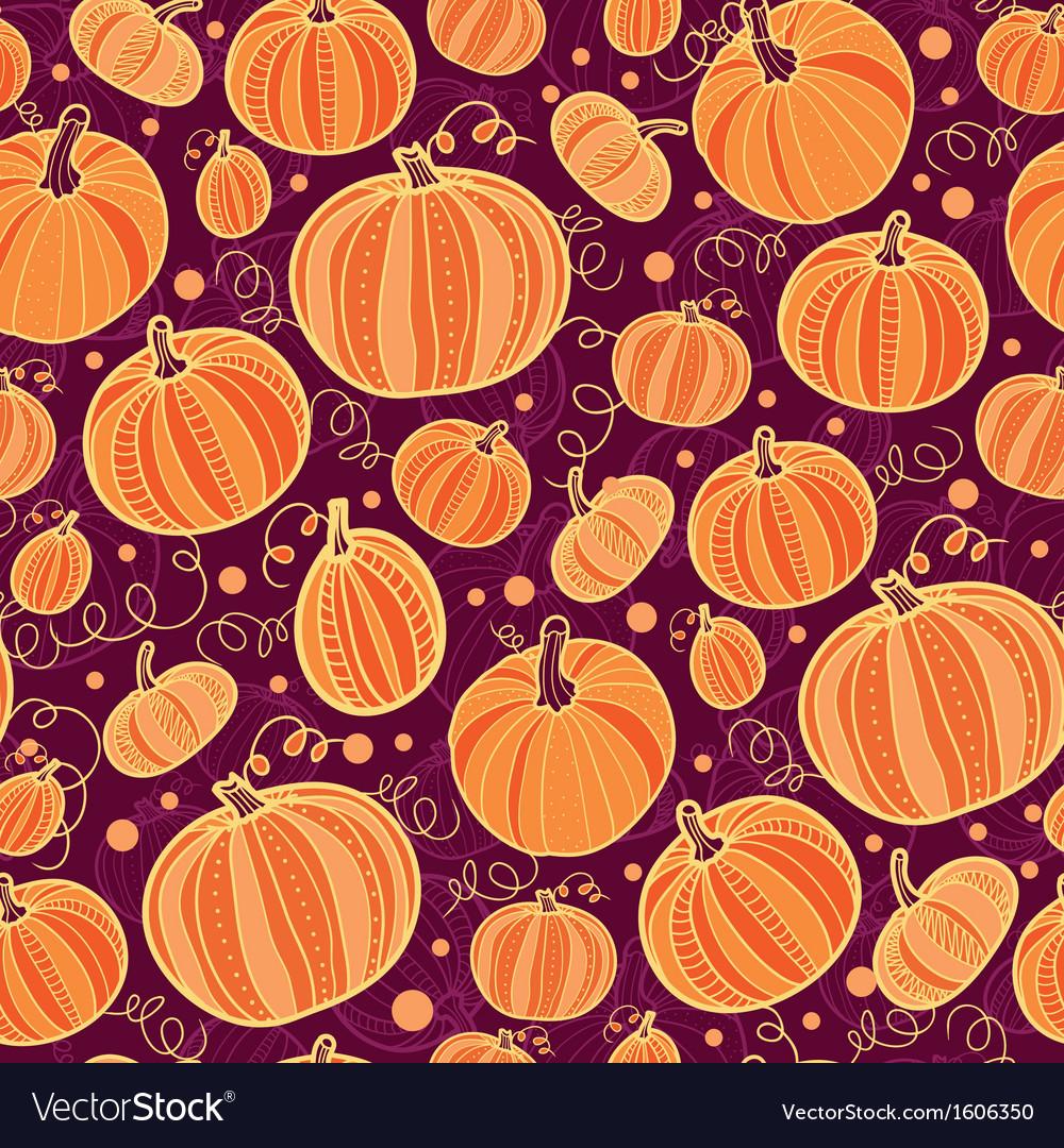Thanksgiving pumpkins seamless pattern background