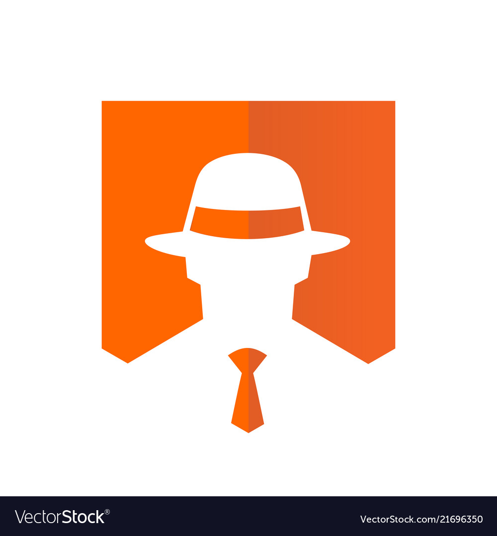Tie and fedora hat logo design