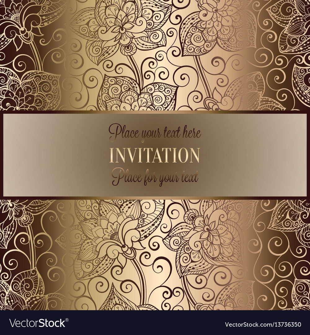 Victorian background with antique luxury beige and