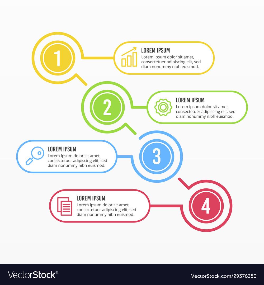White business timeline infographic design