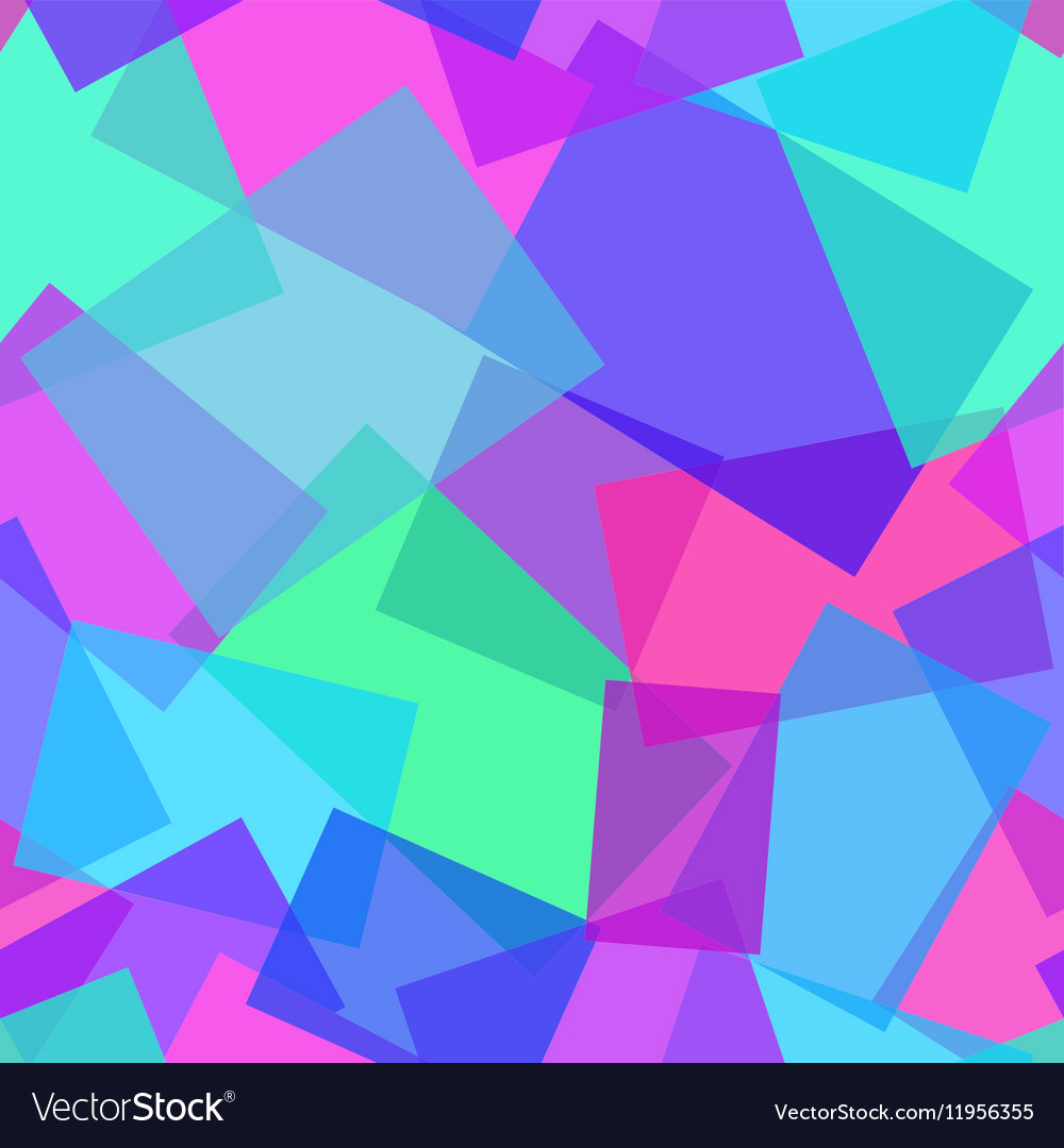 Abstract polygonal purple and blue seamless