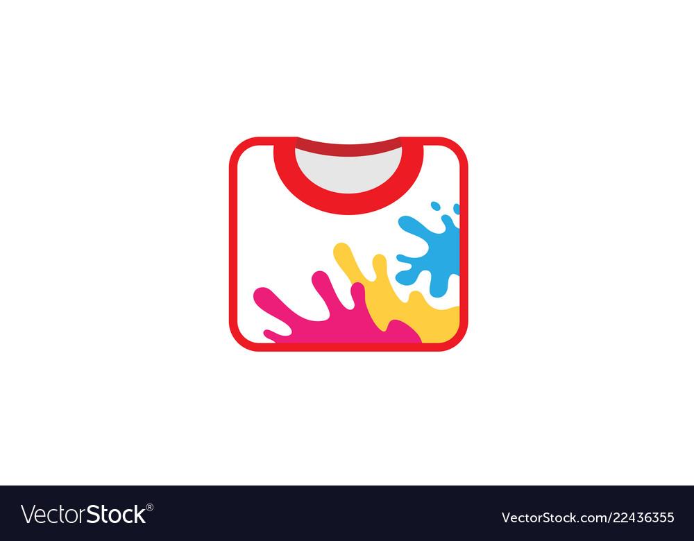 Creative colorful unique tshirt design logo