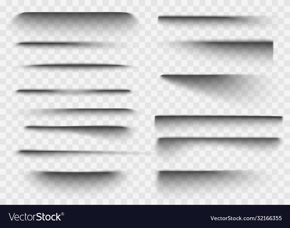 Paper shadow effect realistic transparent overlay