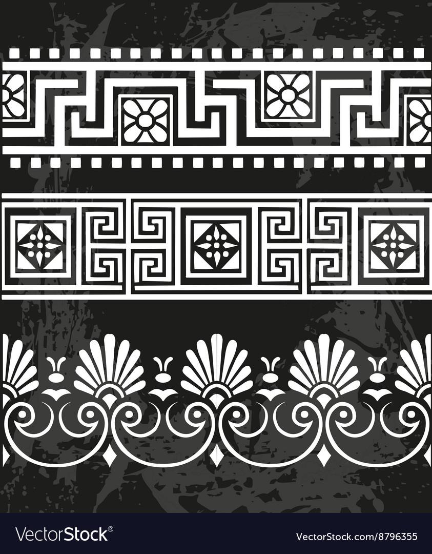 Set antique greek ornaments