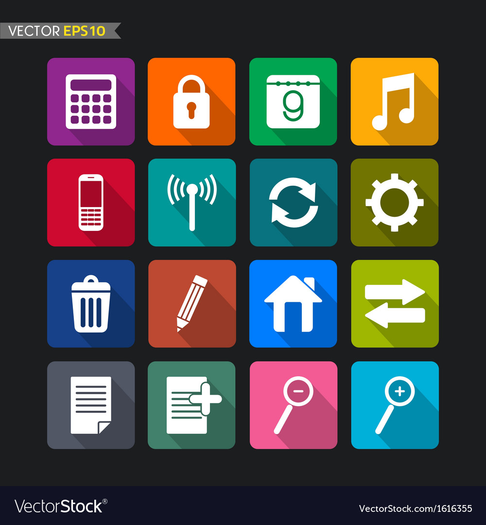 Website icons collection set 2