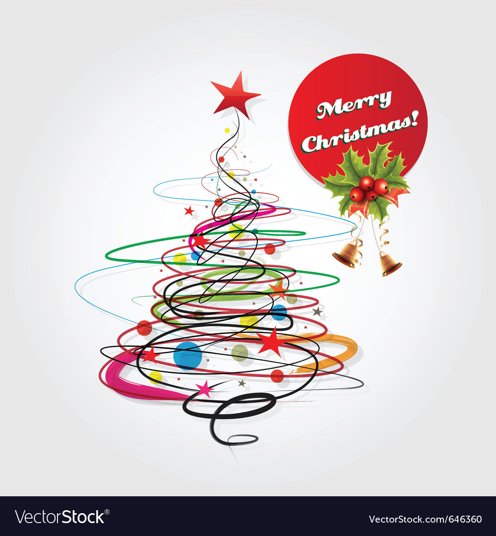 Abstract christmas celebration card vector image