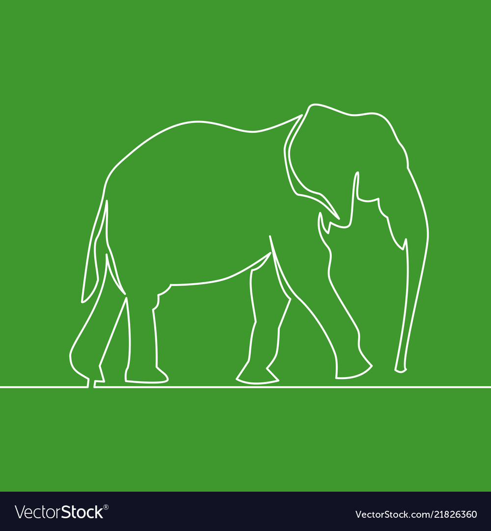 Continuous line drawing elephant logo