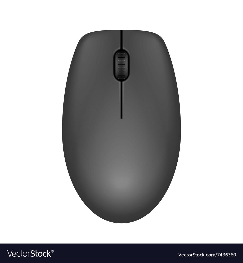 Dark gray realistic computer mouse vector image