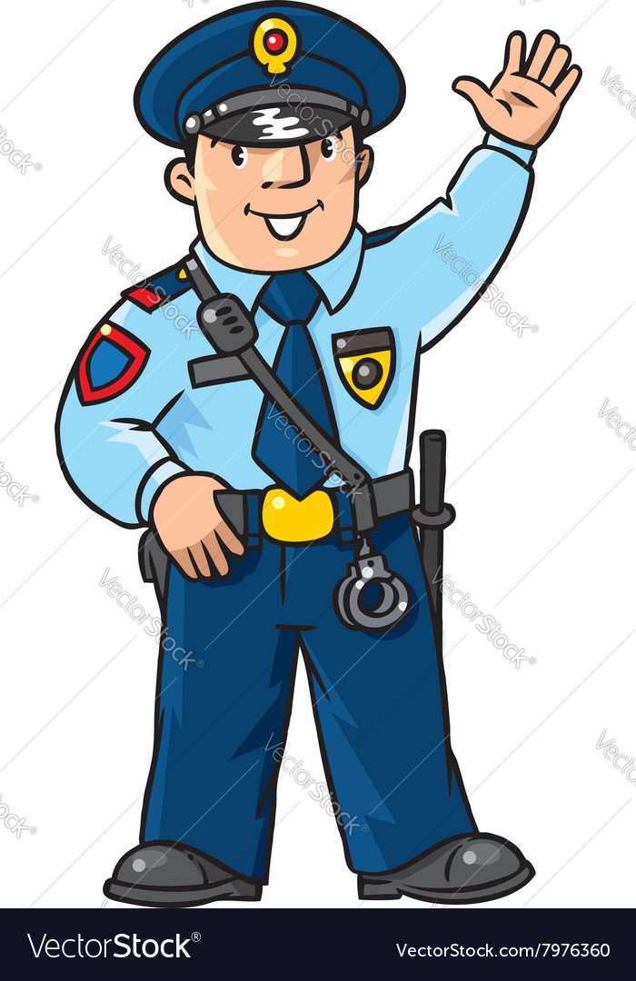 Funny policeman Children Royalty Free Vector Image