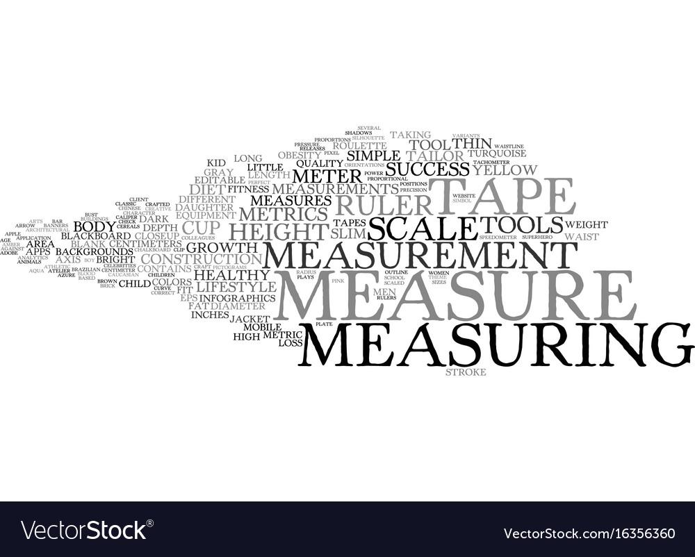 Measure word cloud concept