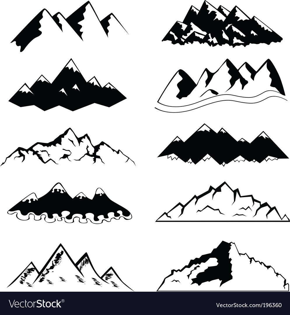 Mountains Royalty Free Vector Image Vectorstock