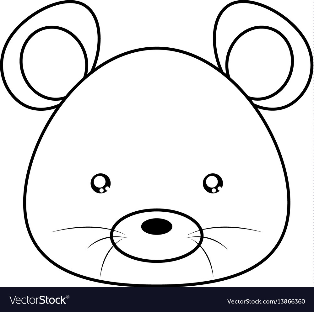 Mouse drawing face vector image