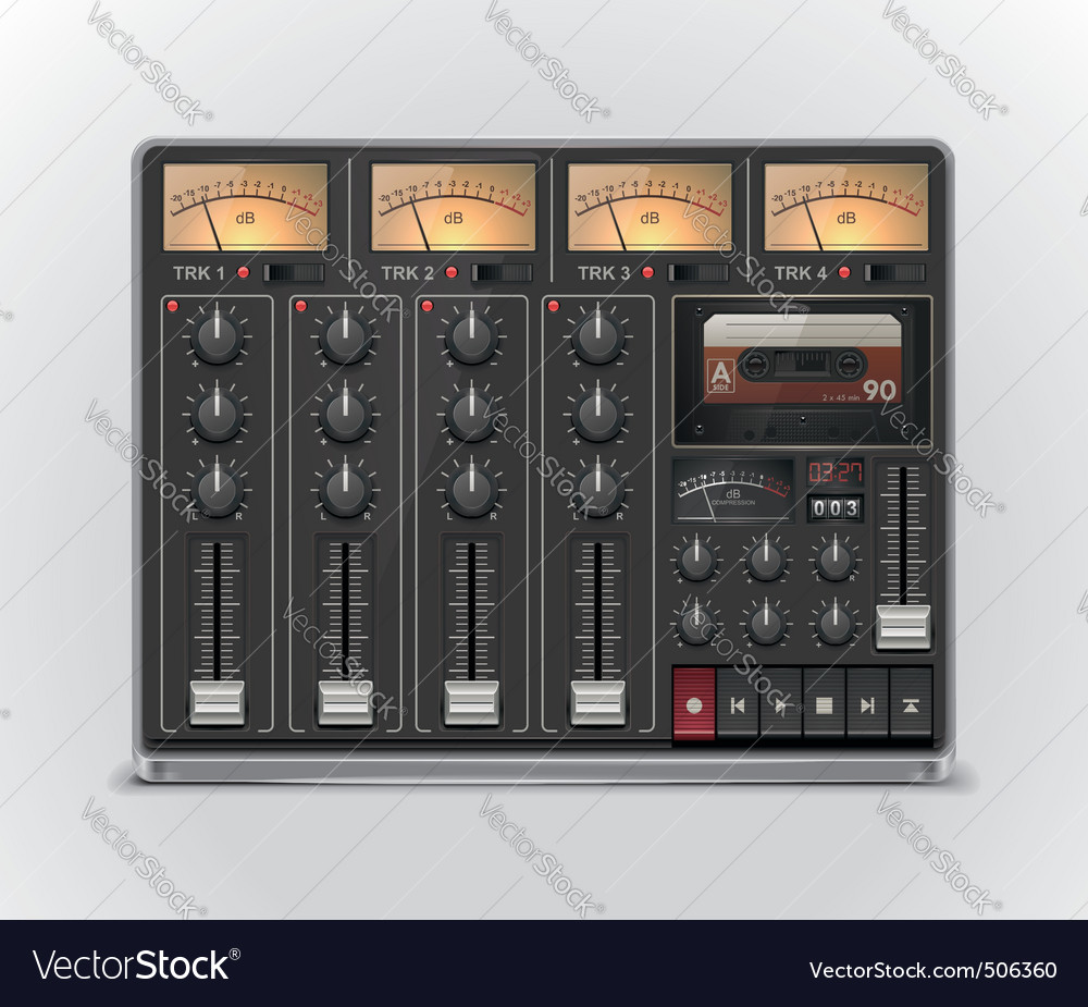 Portable recording studio icon vector image