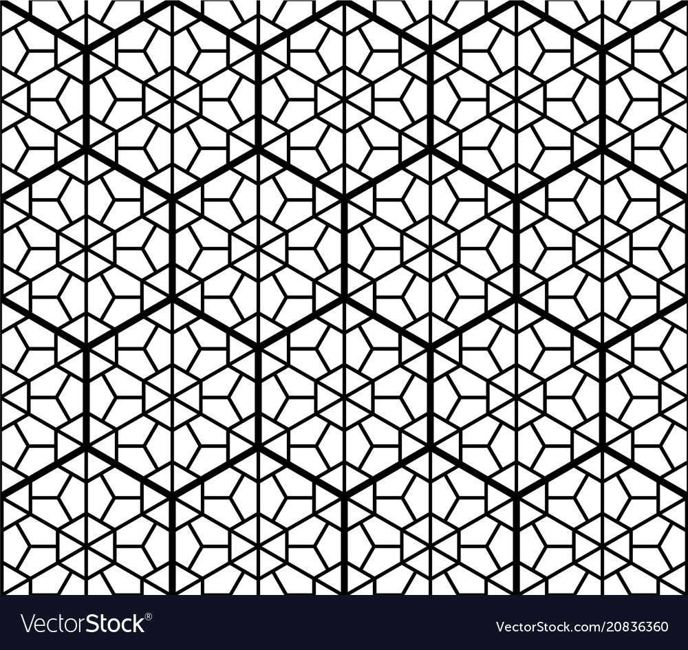 Seamless traditional japanese ornament kumiko vector image